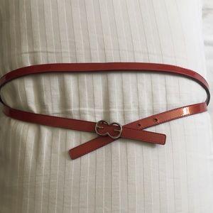 ESCADA pink patent belt